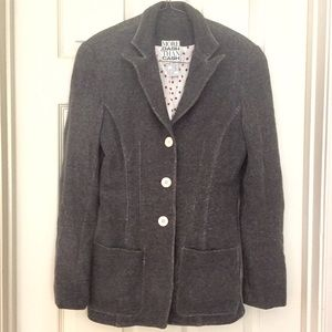 Skinny tailored fitted pencil jean jacket blazer